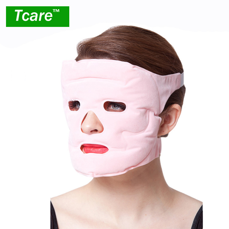 Tcare 1pcs Beauty Face-lift Mask Tourmaline Terapi Magnet Massage Face Mask Pelembap Pemutihan Face Mask Penjagaan Kesihatan