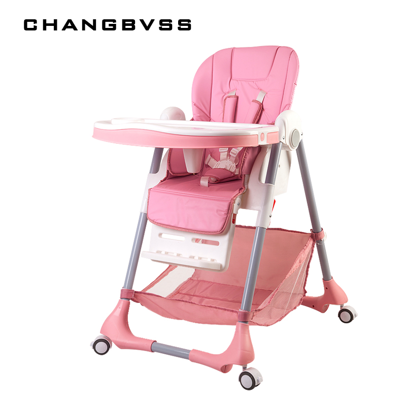Children Eatting Dinner Chair Baby High Chairs Multifunctional Portable Folding Can Sit Lying Dining Chair Baby Feeding Table foldable high chairs baby high chairs feeding table baby dining chair adjustable the height 0 6 years feeding seats