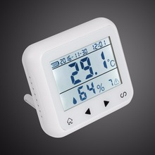 Wireless LED Display Adjustable Temperature Alarm Sensor Detector