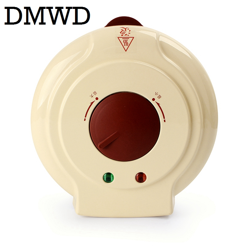 DMWD Electric Egg Roll Maker Crispy eggs Omelet Mold crepe baking Pan Waffle Pancake Bakeware DIY ice cream cone machine frying fried ice cream machine single round pan ice cream roll machine with salad fruits workbench 6pcs tanks cooling