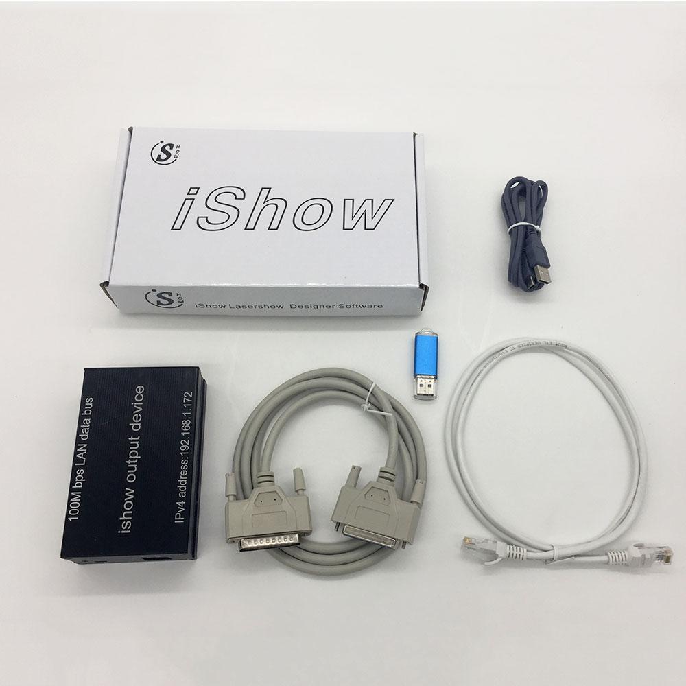 IShow V 3.0 Laser Show Software  ILDA+RJ45 USB Interface Ishow For Disco DJ DMX Bar Stage Laser Light Show Similar As QUICKSHOW