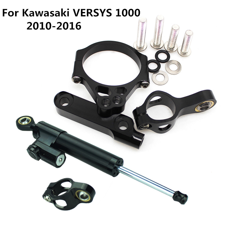 Aluminum Adjustable Motorcycles Steering Stabilize Damper Bracket Mount Kit For Kawasaki VERSYS 1000 2012 2016 2013