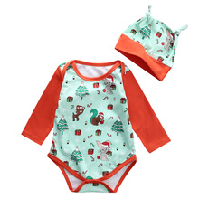 2016 Christmas Newborn Baby Clothes Cute Animal Fox Bodysuit Hat 2PCS Infant Bebes Girl Boy Romper Jumpsuit Outfits Clothing Set
