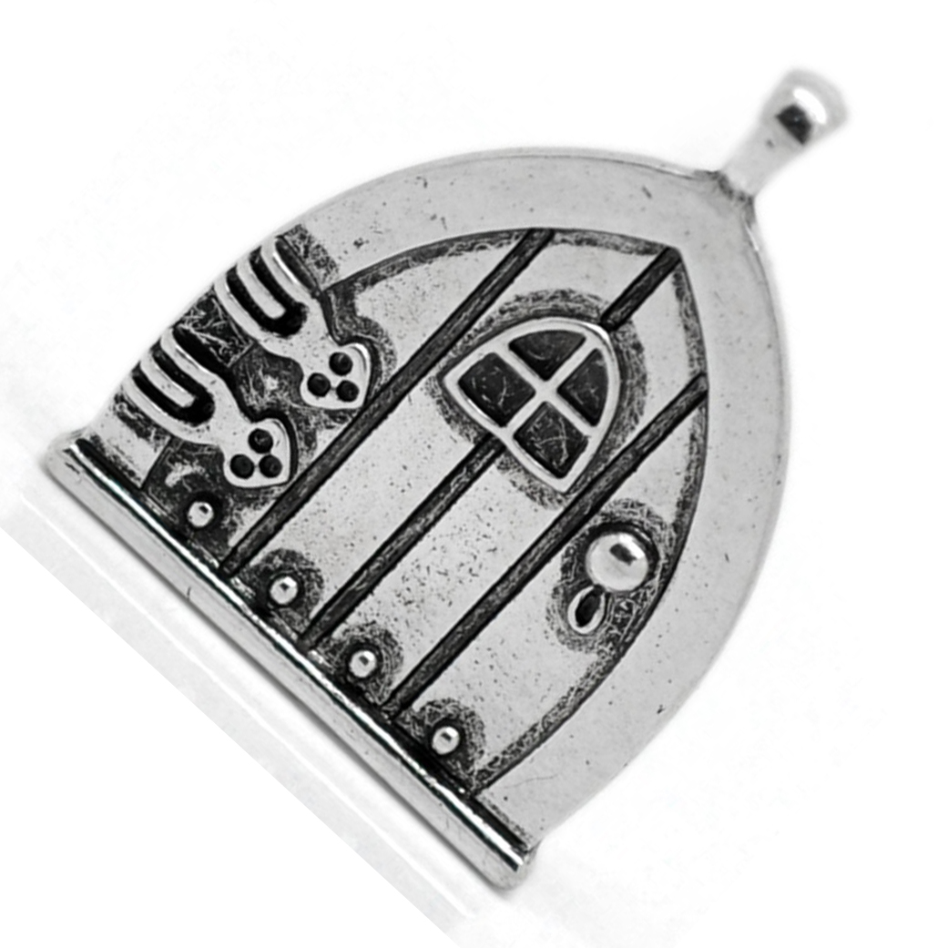 10PCs Silver Tone Fairy Wish Door Charm Pendants 35x27mm(1 3/8 Inch X