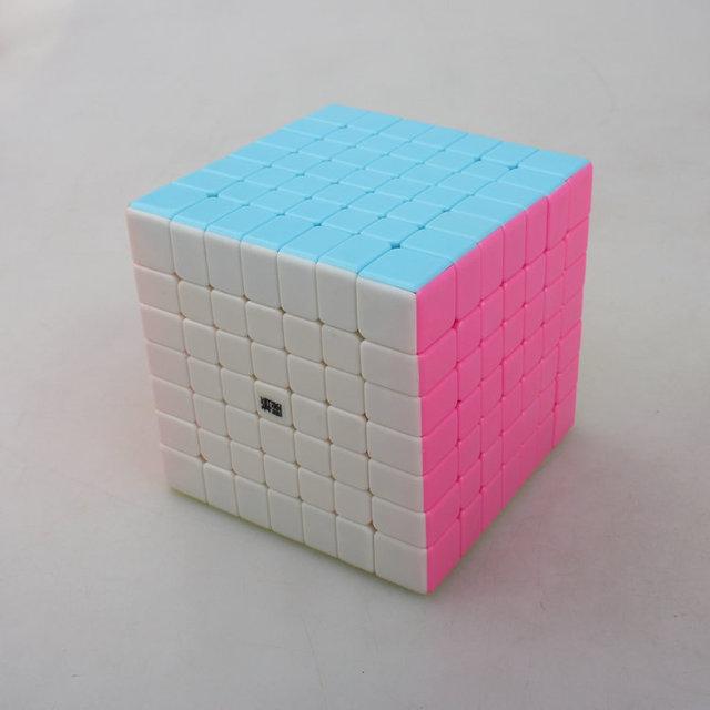 YJ MoYu Aofu Yongjun Cuadrados GT 7x7x7 Cubo de la Velocidad 7x7 Cubo Mágico Stickerless-fluorescente $ Number Colores