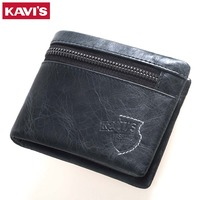 KAVIS 100 Genuine Leather Wallet Men Male Cuzdan Coin Purse Card Holder With Pocket Walet Small