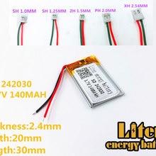 Литий-полимерный аккумулятор 242030 литий-полимерный аккумулятор 140 мА/ч, 3,7 V 242030 MP3 MP4 gps аккумуляторная батарея