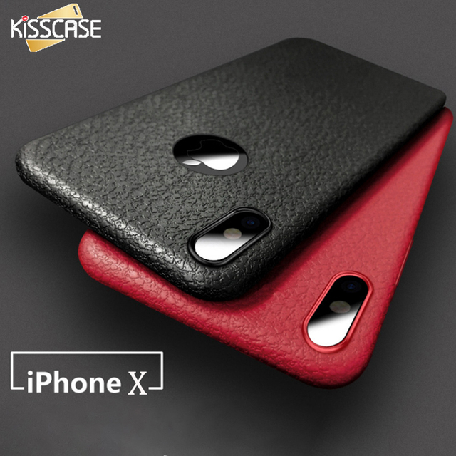 sale retailer f0c17 d921f KISSCASE Classic Leather Skin Phone Case For Iphone X XS 6 6s Ultra Thin  Soft Silicone Case For Iphone 7 8 Plus XR XS Max Fundas-in Half-wrapped  Case ...