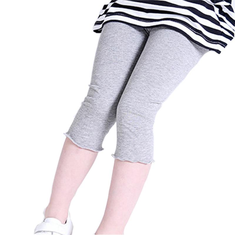 542e1ed1d63e9 Vente chaude Nouveau Été Enfants Modal Ruche Legging 7e Filles Leggings De  Couleur de Sucrerie Bébé Enfant Pantalon Solide Mince Ruché Filles Leggin