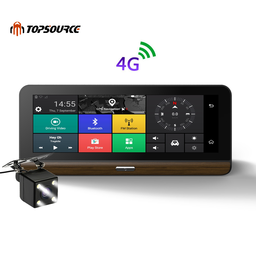 TOPSOURCE 3G 4G Car DVR font b Camera b font Supported plus 7 8 inch Android