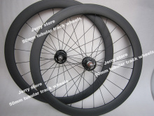 track fixed gear single speed 700C carbon bicycle wheels 50mm deep tubular