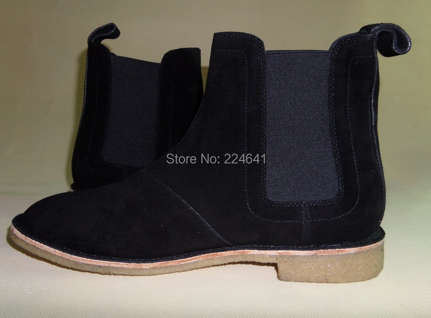 2016 men chelsea boots kanye west boots leather 1:1 style  Euro40-44 - Men's Shoes - Photo 5