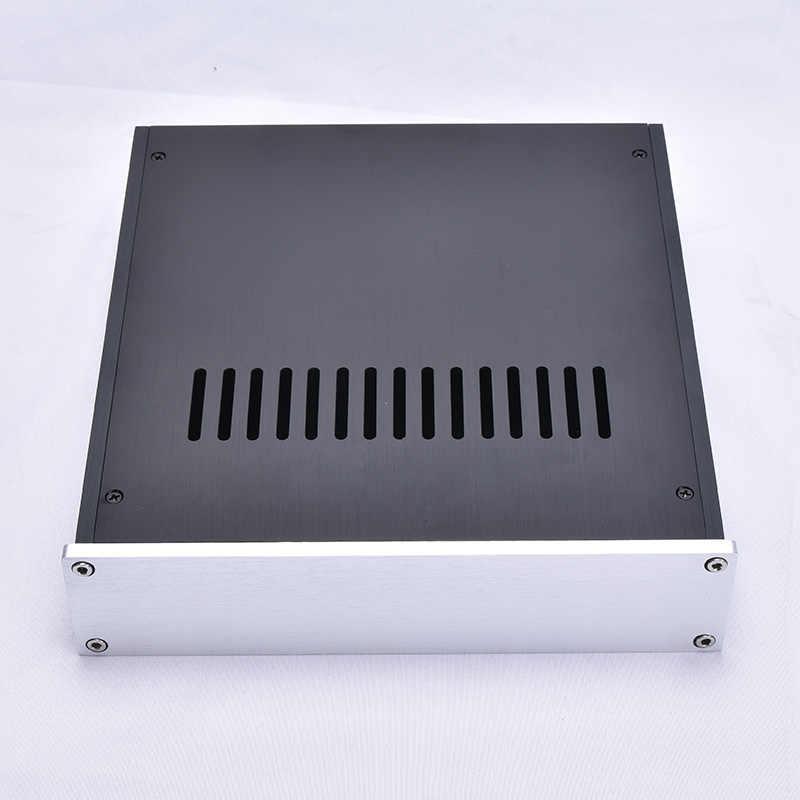 Kaolanhon усилитель корпус DIY коробка 220*52*226 мм все алюминиевые усилитель мощности Корпус Шасси 2205 передний двухфазный амперный ЦАП