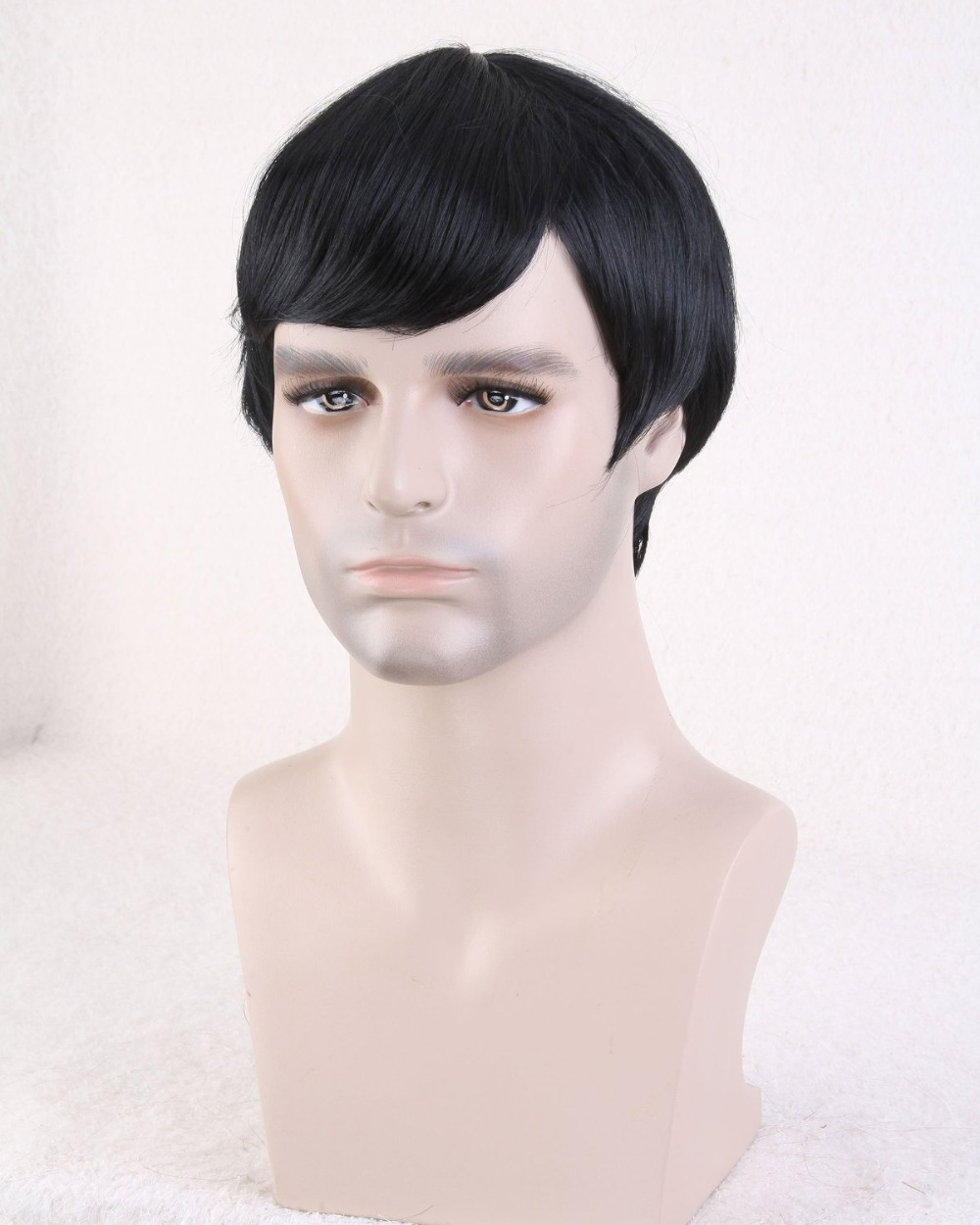 mens wigs short hair men synthetic hair extensions male wig