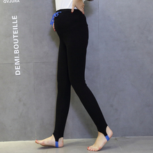 Maternity Leggings Pants Clothes for Pregnant Women High Waist Adjustable Belt Cotton Pregnancy Trousers for Spring