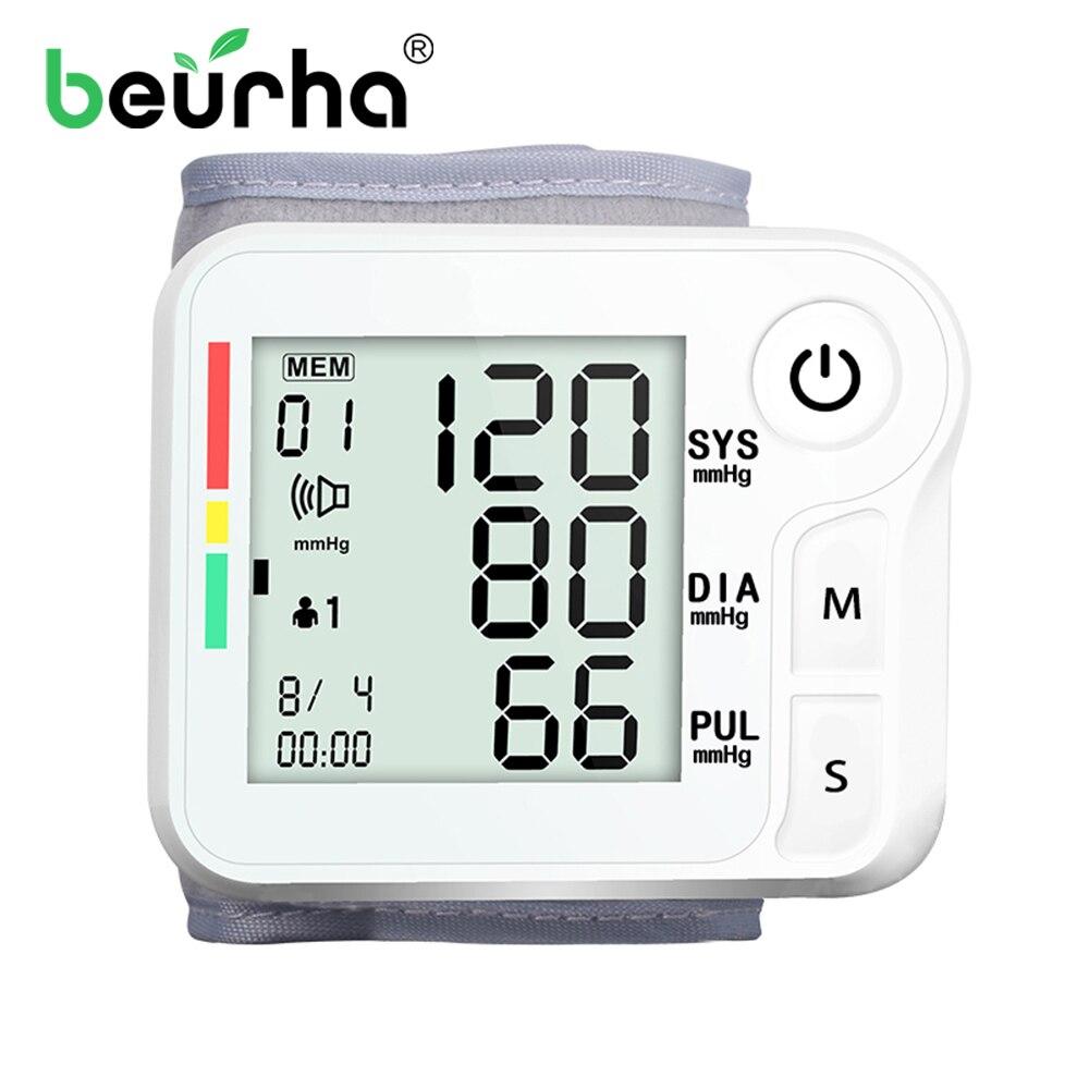 Beurha английская Кнопка манжета наручный Сфигмоманометр измеритель артериального давления монитор пульса портативный тонометр для здоровья|Артериальное давление|   | АлиЭкспресс
