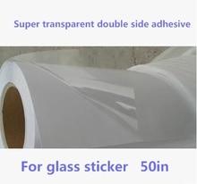 50 дюймов, широкоформатный, суперпрозрачный, двусторонний, рулон клейкой пленки