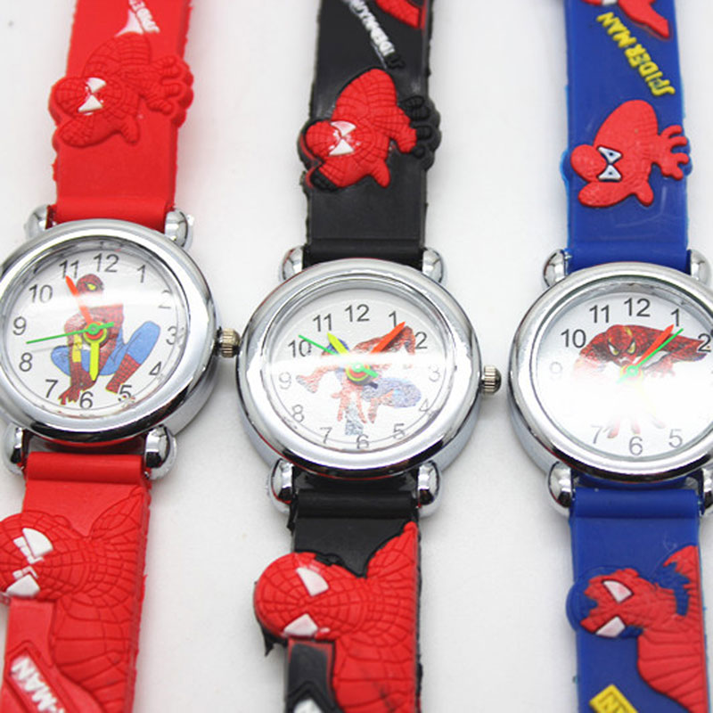 Children Watch Superhero Silicone Belt 3d Spiderman Children Watch Boys And Girls