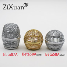 New Replacement Ball Head Mesh Microphone Grille for Shure SM58 SM58S SM58LC BETA58 BETA58A beta87A(China)