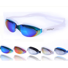 Professional Large Electroplate Waterproof Anti Fog UV Protection Swim Pool Silicone Swimming Goggles Glasses Eyewear Accessory