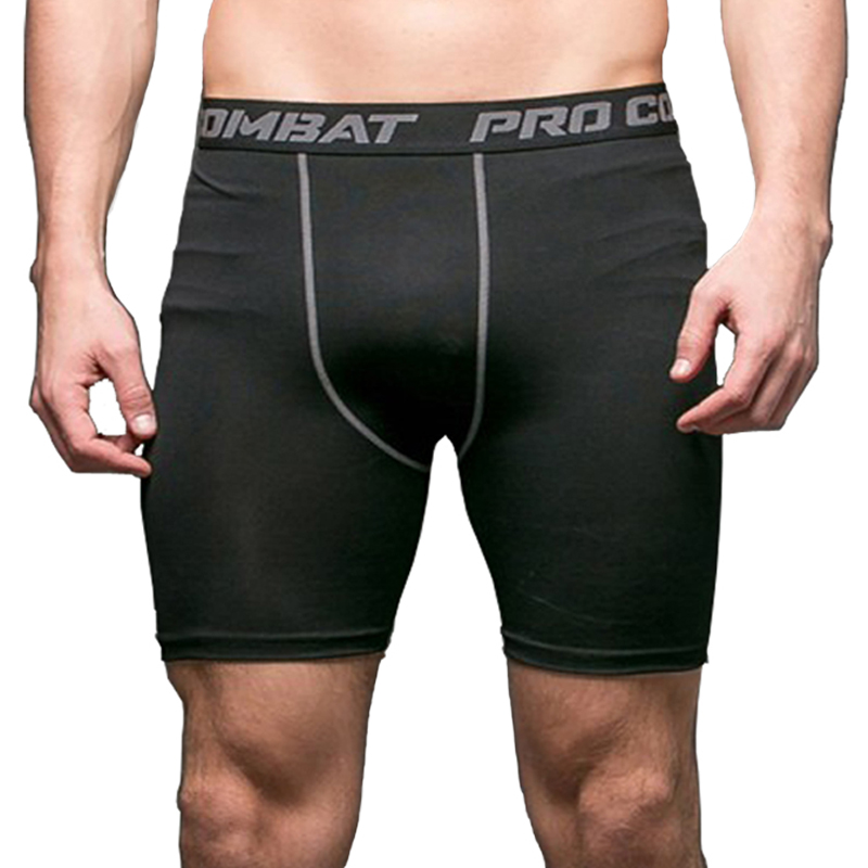 Mens Bodybuilding Shorts Compression Gym Shorts Trainning Fitness Quick-Dry Gym Short-pants Exercise Weight-liftin Boxing Shorts(China)