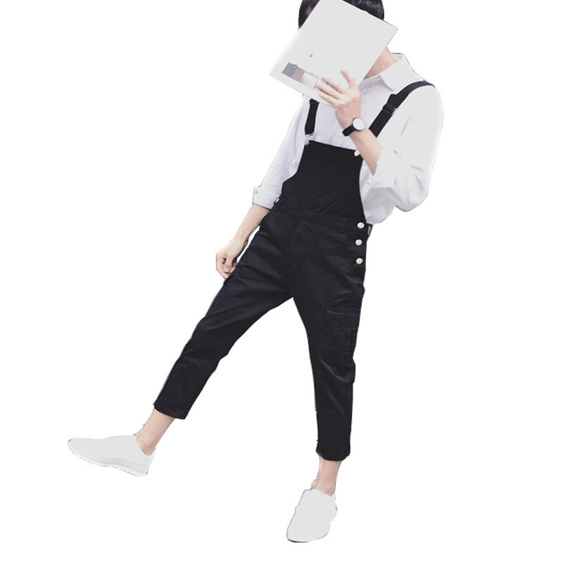 New Mens Green And Black Bib Overalls Fashion Loose Denim Overalls Jeans Man Casual Denim Jumpsuits Jeans Man Suspender Pants