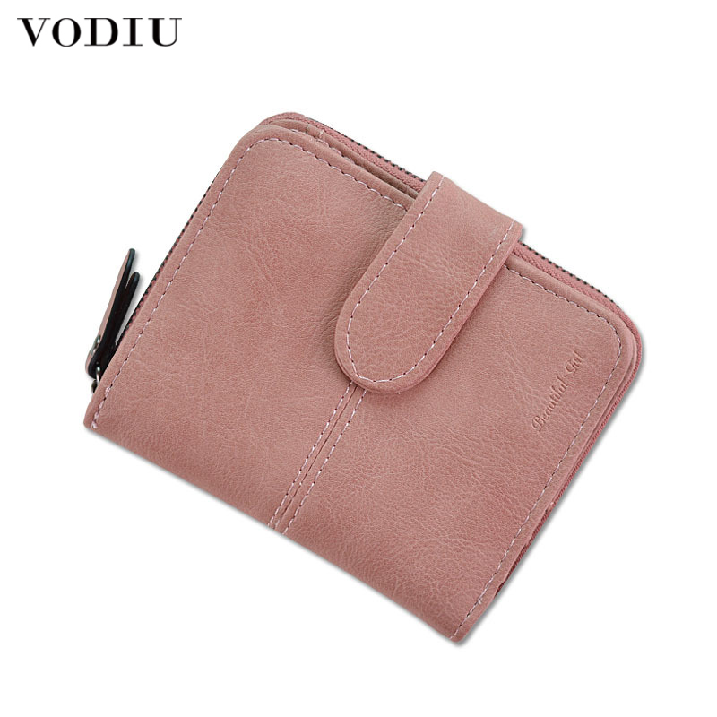 Women's Small Wallet For Credit Card Female Coin Purse Leather Wallet Fashion Short Clutch Lady Solid Mini Purse Women Wallets
