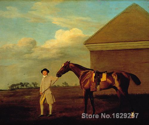 Peintures pour le salon mur Firetail et Formateur sur Newmarket Heath George Stubbs Haute qualité peint À la Main