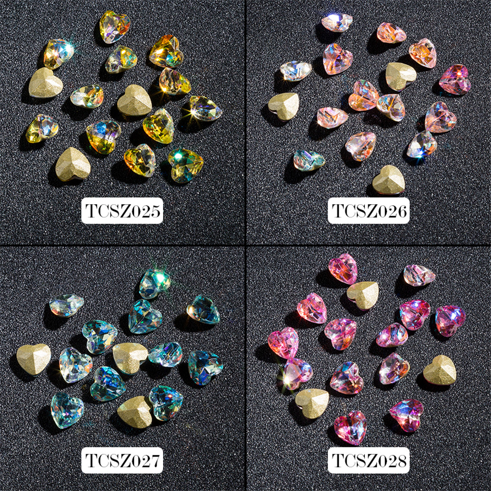 3D Heart Shape Clear Glitter Shinny Crystal Diamond 8MM Size for Nail Art Rhinestones Decorations DIY and nail art decorations artlalic 1 wheel new 3d nail decorations tools charm perfume bottle flowers triangle rhinestones diy nail art jewelry promotion
