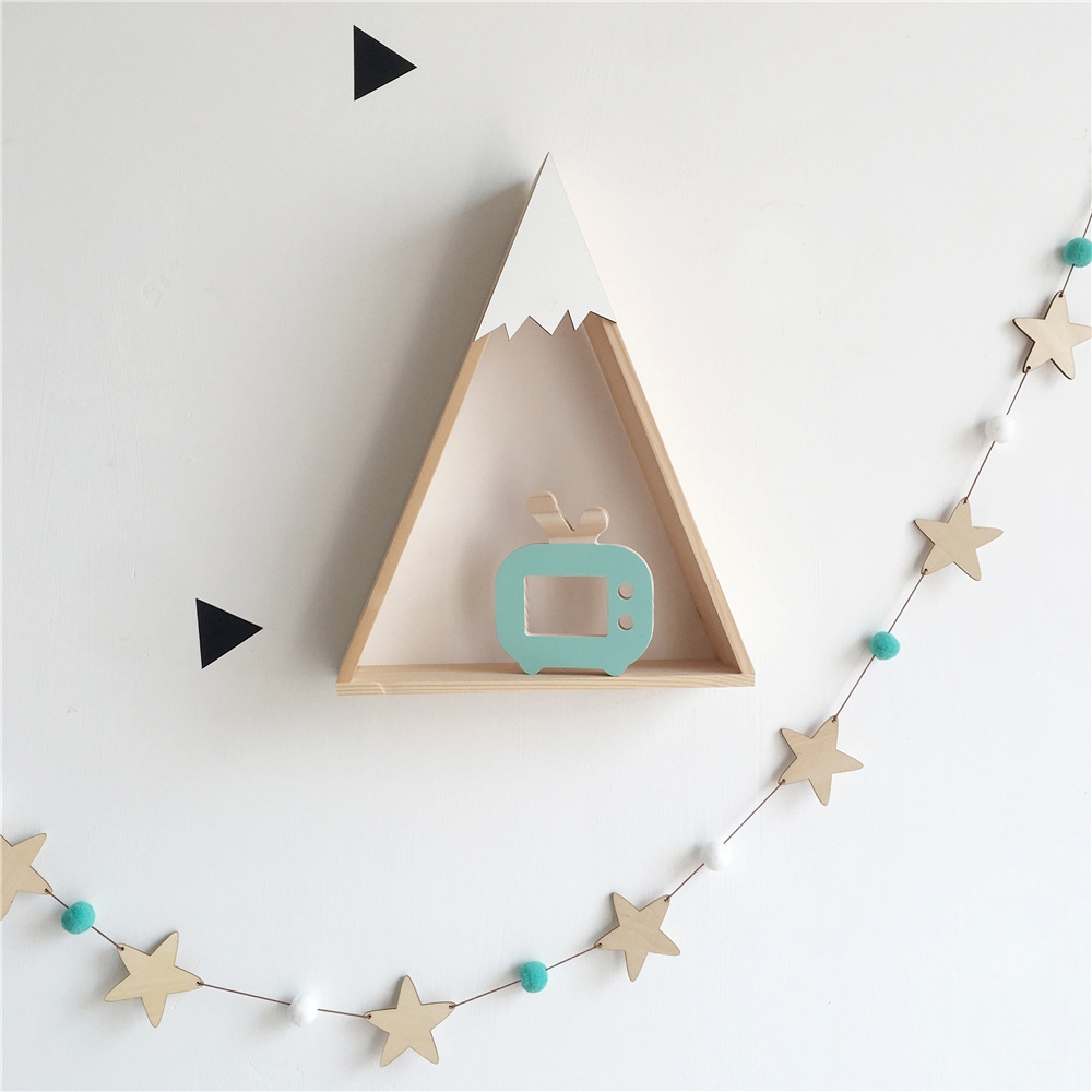 Baby Room Decor Wooden Star Bed Bumper For Newborn Baby Cot Bedding Tent Wall Hanging Children Room Decoration Nordic Ins Style