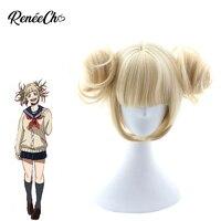 My Hero Academia Cosplay High Quality Himiko Toga Wig Funny Anime Cosplay Synthetic Wig 32cm
