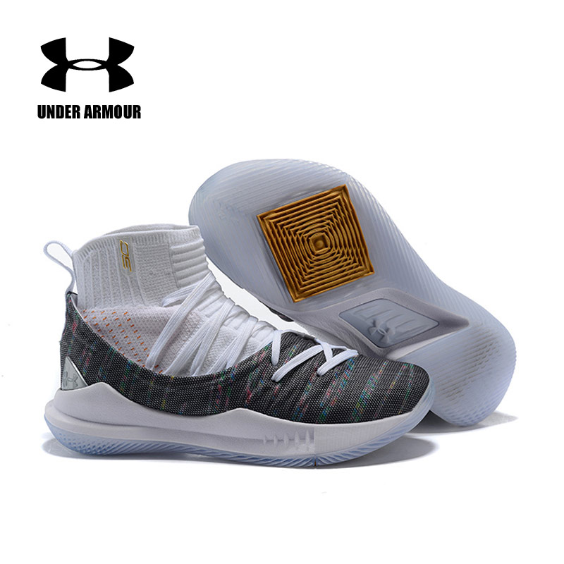 quality design f11c8 c10a9 Under Armour UA Curry 5 Sneakers Men basketball Shoes Men's Five Wearable  Black Light Cushioning Breathable Shoes Size 40-45