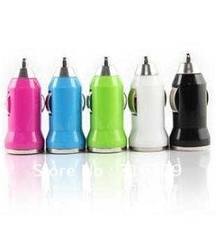 Free Shipping  The seven corol mini car carries charger  USB Cable for mobile phone
