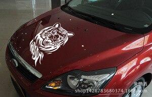 Image 3 - SLIVERYSEA 60 CM Tiger Xe Nhãn Dán cho Xe Toàn Bộ Cơ Thể Mui Xe Động Cơ Roaring Tiger Auto Sticker Không Thấm Nước cho tất cả các xe # B1125