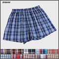 BXMAN 100% Plaid Woven Cotton Eight Style  Sexy Men's boxers shorts And High Quality Best Price Men's Underwear 4 Pieces/Lot