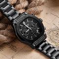 2016 MEGIR Marca Pulseira de Couro Relógio de Pulso do Homem de Negócios Homens Do Cronógrafo analógico 24 Horas & 6 Mão Relógio Exército Masculino Esporte Relógios