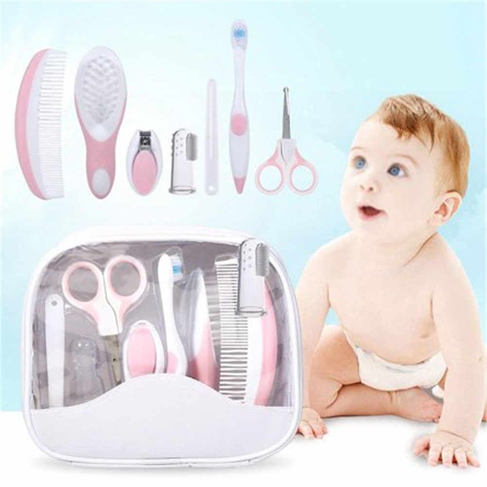 Grooming & Healthcare Baby Care 7pcs Care Manicure Newborn Safety Comb,Hair Brush,Finger Toothbrush,Nail Clipper, baby scissors