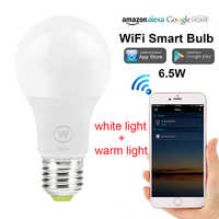 WiFi Smart Light Bulb NO RGB White light and Warm light only  Wake-Up Lights Compatible with Alexa and Google Assistant