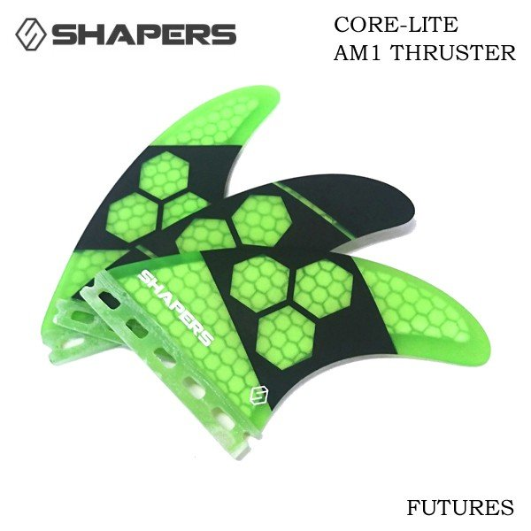 Shapers Core Lite AM1 Tri Fin Medium Future Fin System