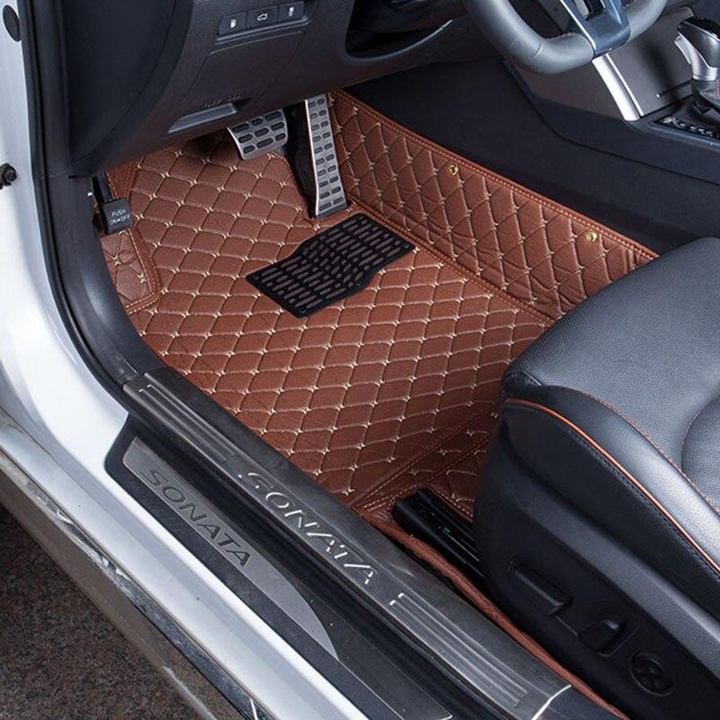 Car Floor Mats Covers top grade anti-scratch fire resistant durable waterproof 5D leather mat For Hyundai Sonata Car-Styling car floor mats covers top grade anti scratch fire resistant waterproof durable 5d senior for honda for civic styling