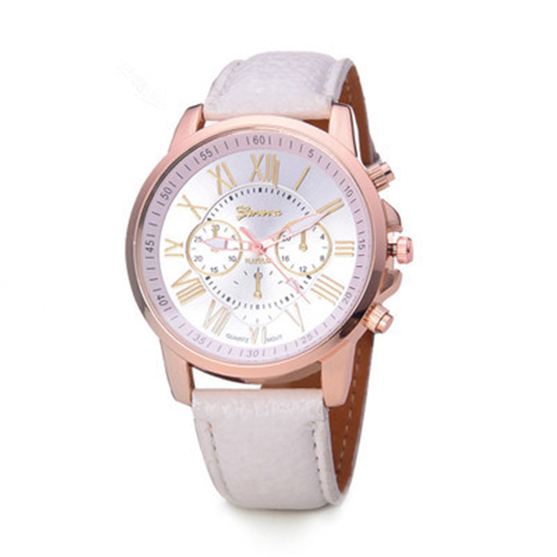 Europe And America Women Quartz Imitation Leather 2019 New Fashion Round Watch Fashion Trending Couple 2019 New Blue Watch Gift