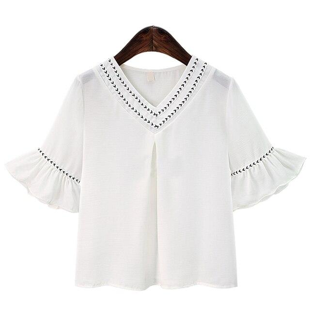 blouse v hals dames