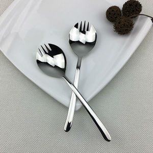 1 Piece Quality Stainless Steel Salad Fork Desert Snack Cookies Spoon Classic Dinner Fork Creative Cutlery Silvery Tableware