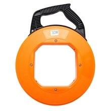 цена на Portable 30 Meter Fiberglass Fish Tape Fishing Tool Reel Puller Conduit Duct Rodder Pulling Cable