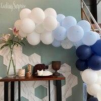 106 шт Упаковка Арка с воздушными шарами и комплект гирлянды Синий Белый & конфетти воздушные шары Мальчик день рождения для свадьбы или «нул...