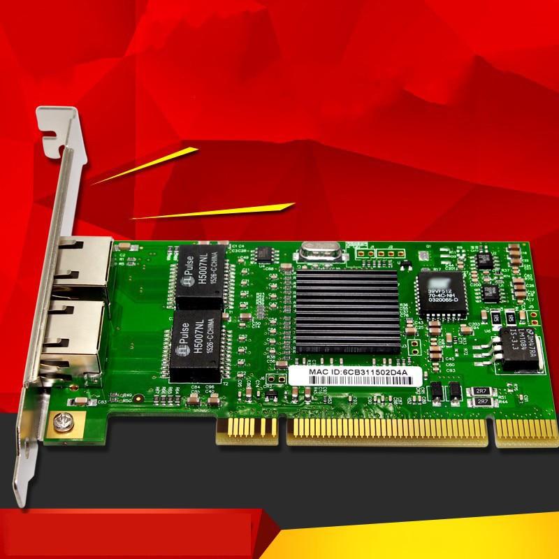 Network Adapter PCI 2 Ports RJ45 Gigabit Ethernet Lan Network Card 10/100/1000Mb For 82546 24 pcs rj45 modular network pcb jack 56 8p w led 4 ports