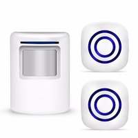 Wireless Doorbell PIR Store Shop Welcome Motion Sensor Infrared Detector Induction Alarm Door Bell Waterproof Doorbell