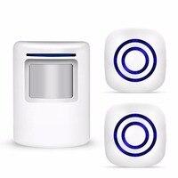 Wireless Doorbell PIR Store Shop Welcome Motion Sensor Infrared Detector Induction Alarm Door Bell Waterproof Doorbell