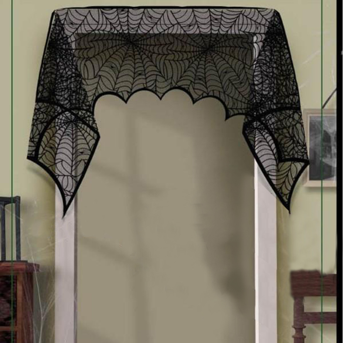 Halloween Party Mantel Door Window Decor Spiderweb Cobweb Runner Fireplace  Scarf Cover Festive Supplies(China - Online Get Cheap Decorative Fireplace Covers -Aliexpress.com