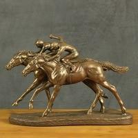 Характер скульптуры, для верховой езды предметы мебели, европейском стиле фигура украшения, смолы ремесленных
